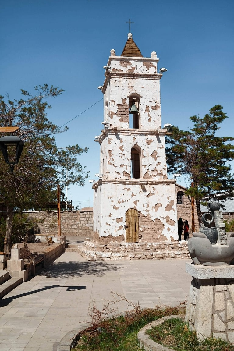 Bell Tower in Toconao, Chile.
