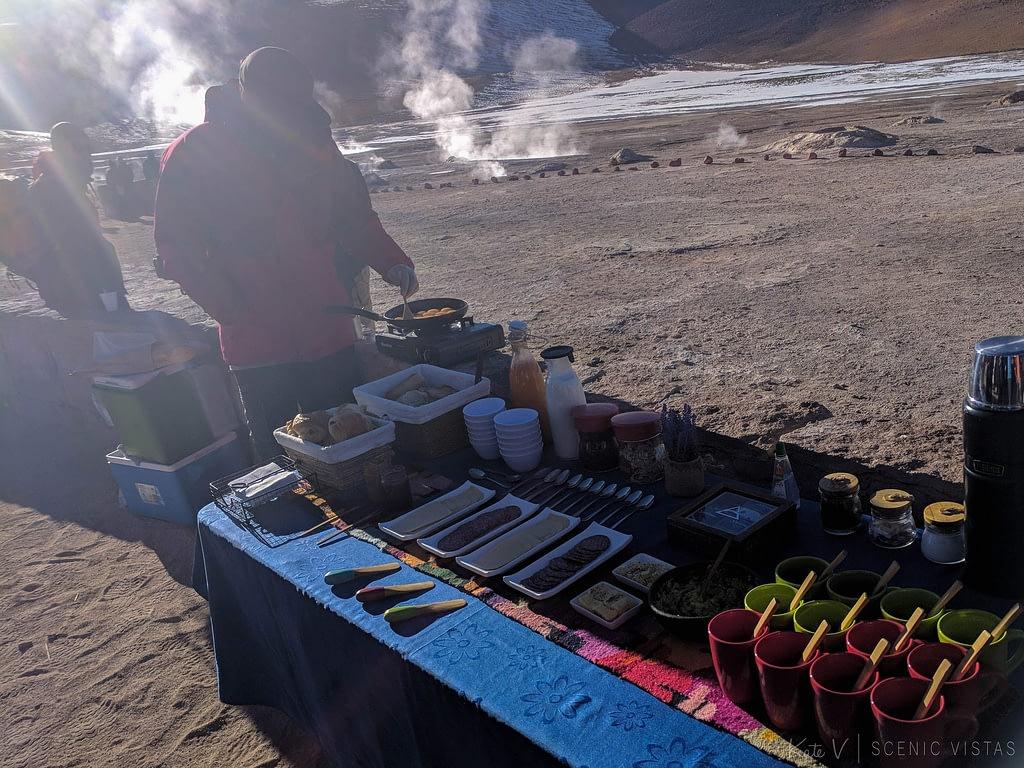 Breakfast at the Tatio Geysers by Sorbac.