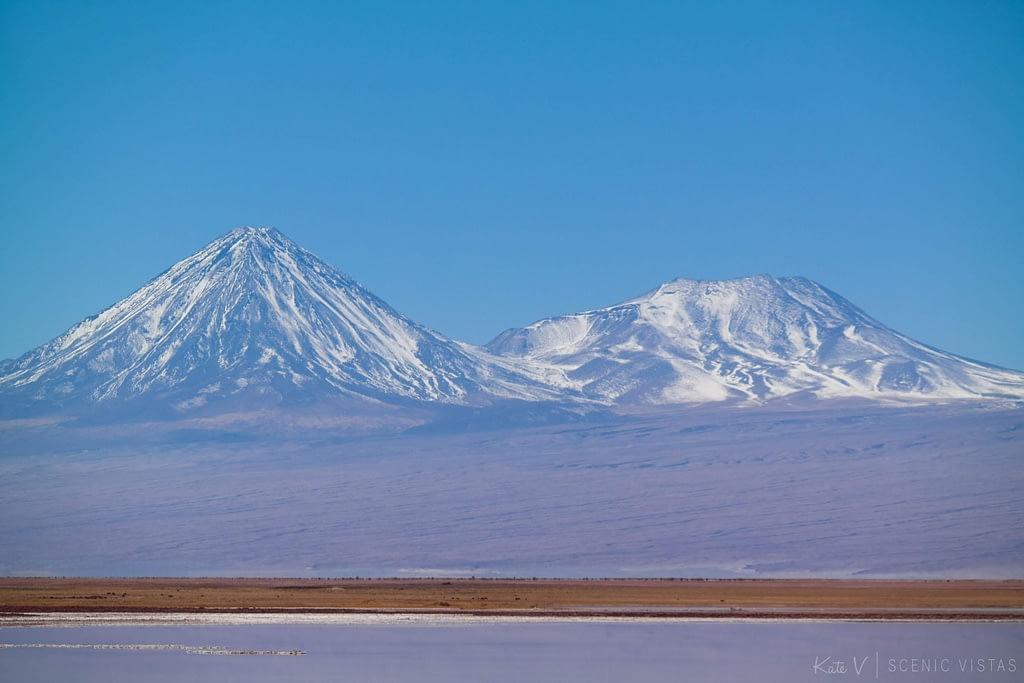 Snow-capped Volcan Licancabur.